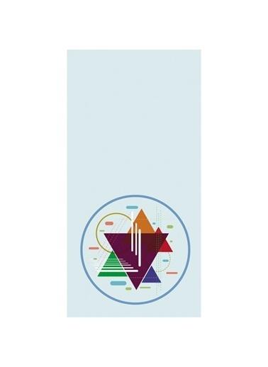 Artikel Renkli Üçgen Desenli Dekoratif Çift Taraflı Yastık Kırlent Kılıfı 45x45 cm Renkli